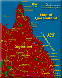 Queensland Map showing National Parks