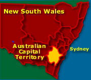 Map shows the ACT and NSW