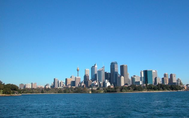 Sydney on a Bright Sunny Day as seen from the Harbour