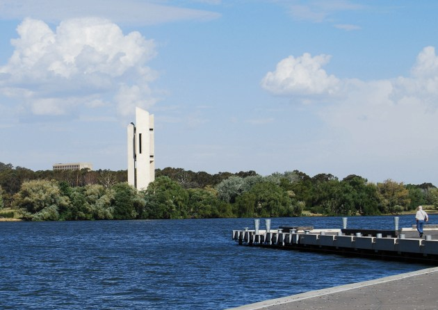 The National Carillon, across Lake Burley Griffin