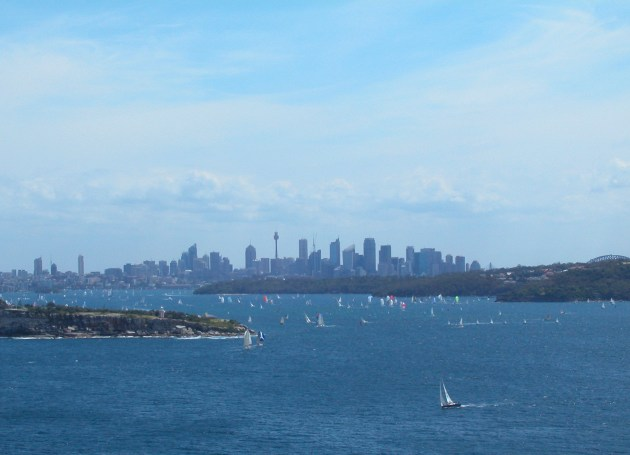 View of Sydney City over Sydney Harbour