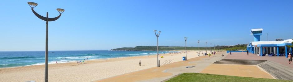 Maroubra, like Bondi, has a beautiful crescent beach with surf.