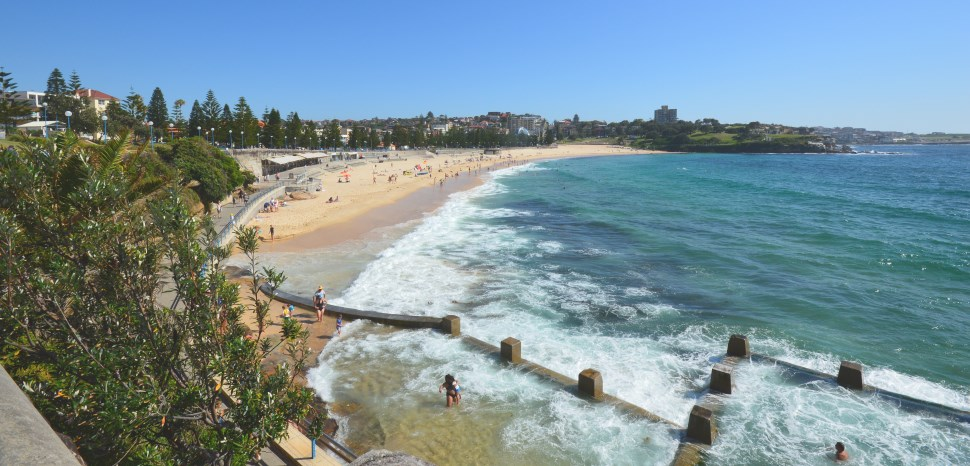 Wide Angle View of Coogee Beach.