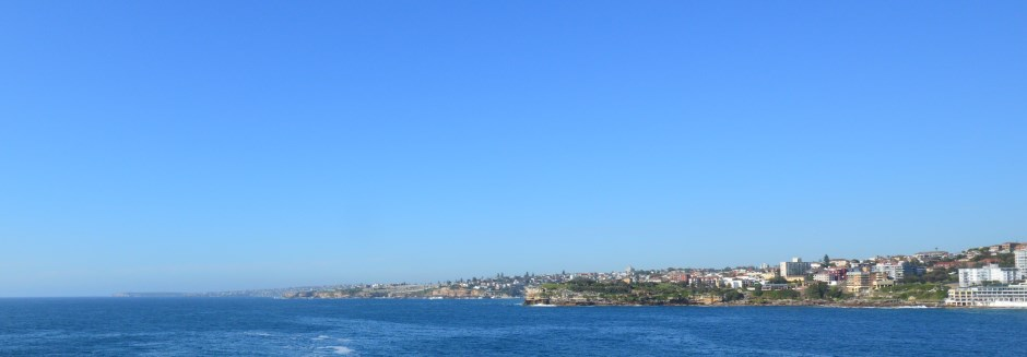 Stunning scenery is to be seen along the Eastern Beaches Walk from Bondi to La Perouse.