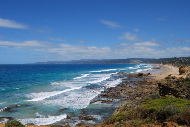 Stunning beaches stretch all along the Great Ocean Road in Victoria