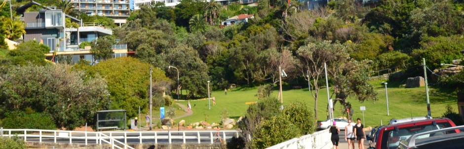 The Park Behind Tamarama Beach. Located on the Sydney Beaches coastal walk from Bondi.