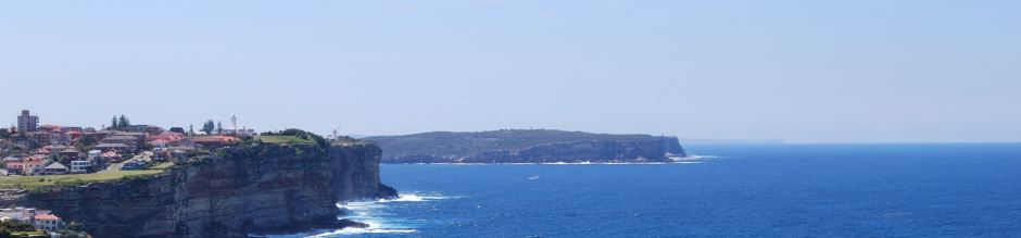 The entrance to Sydney Harbour and the Two Lighthouses