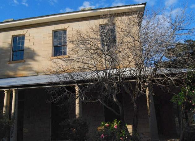 Side view of Glenalvon, originally built for Innkeeper Michael Byrne