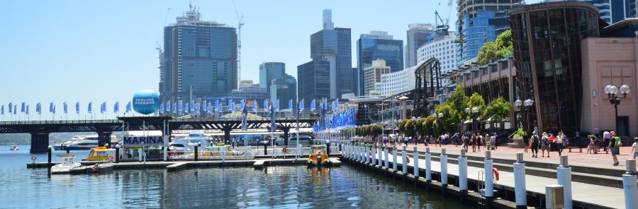 Both East and West can be found at Darling Harbour Places to Eat