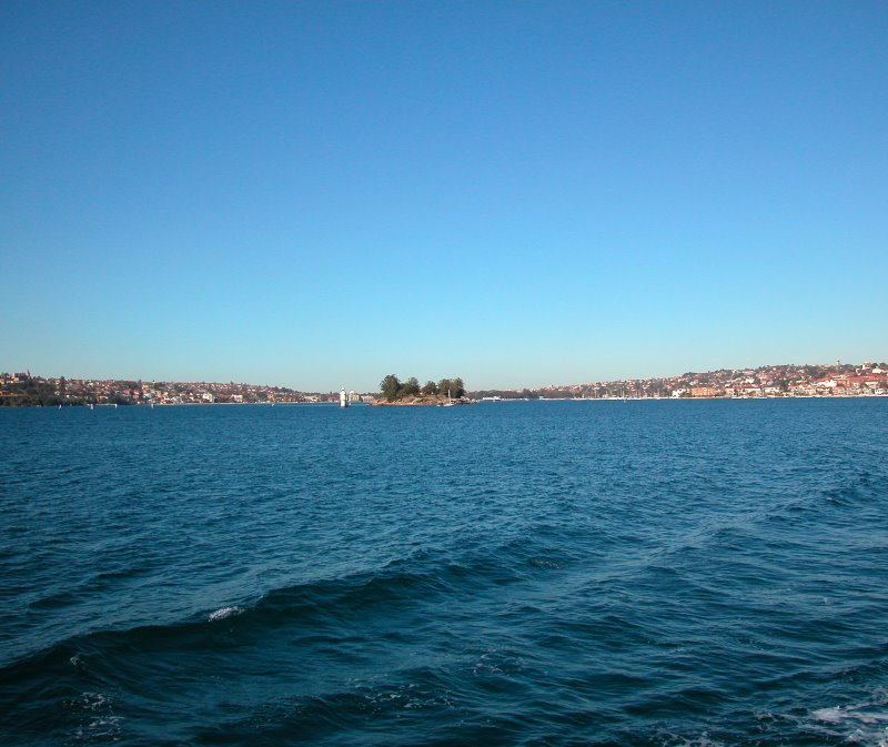 Double Bay with Clark Island in the Foreground on Sydney Harbour