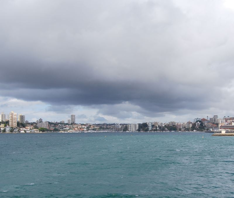 Winter Rain Dissipates - Double Bay and Rushcutters Bay (left) on Sydney Harbour