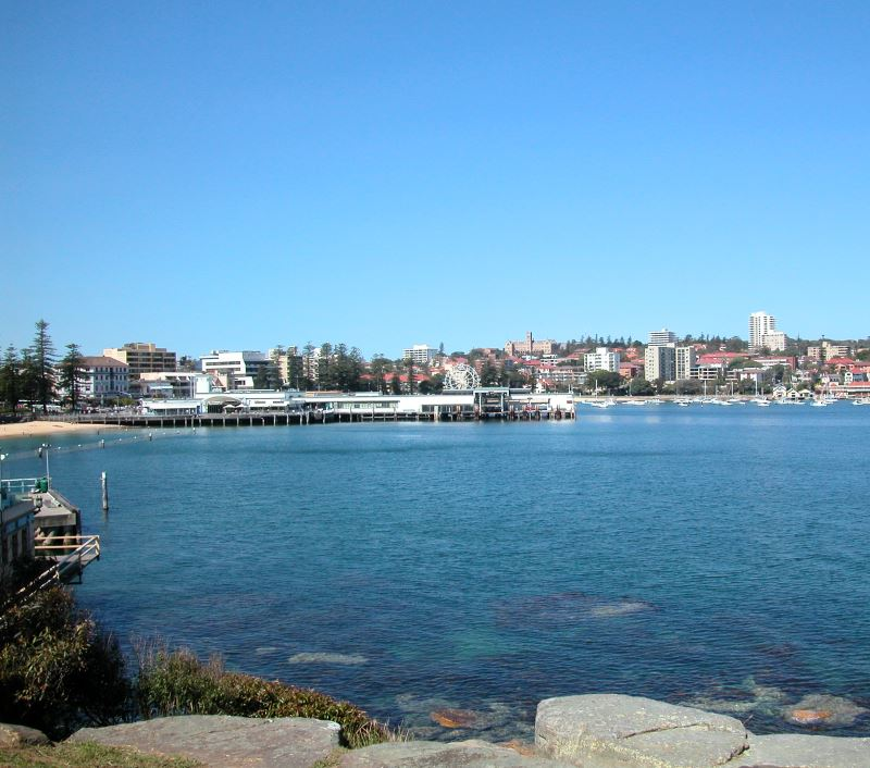 View from Federation Point. The Manly Scenic Walk begins just to the left of the Photo
