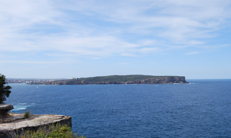 View of the Entrance to Sydney Harbour with Manly to the left in the Distance.