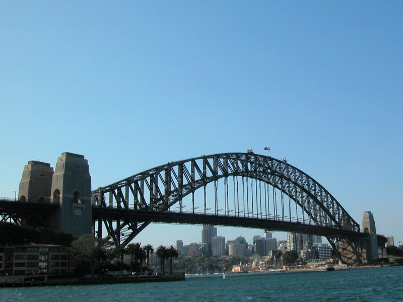 The south to north Bridge that crosses Sydney Harbour
