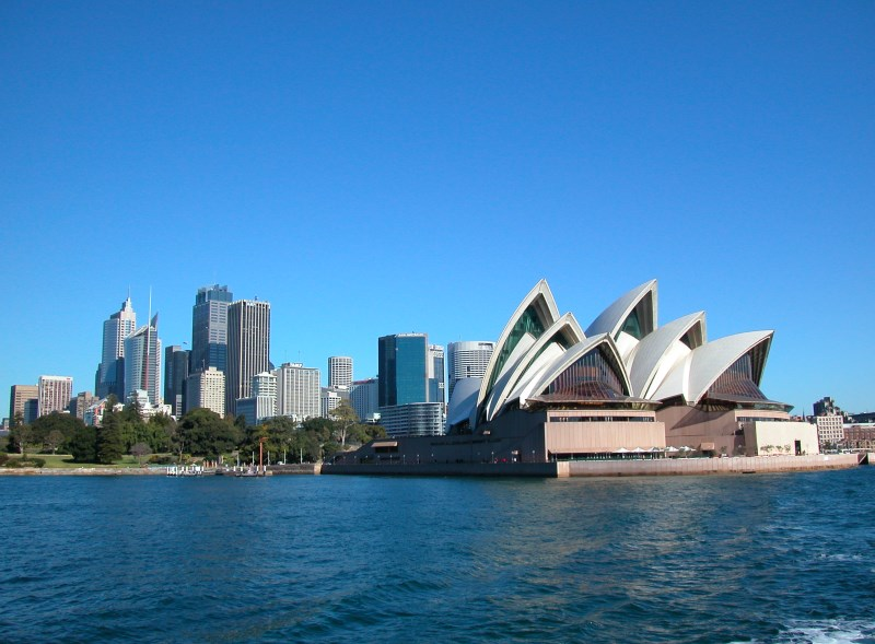 The Sydney Opera House as seen from the Manly Ferry