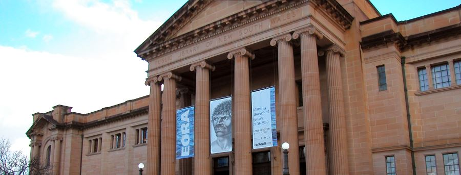 Mitchell Library (NSW State), made from Sydney Yellow Sandstone