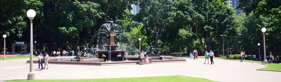 Archibald Fountain at Hyde Park, Sydney Australia