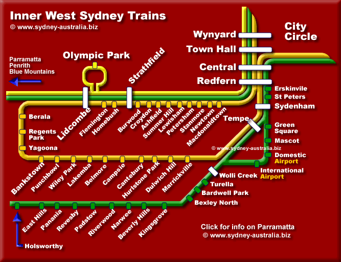Sydney West Trains - Click to see more about Parramatta