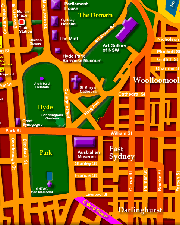 Map of Sydney CBD - Click to Zoom