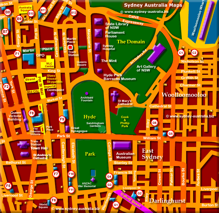 Sydney City Map - Click to Zoom Out