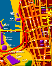Map of Sydney CBD West - Click to Zoom