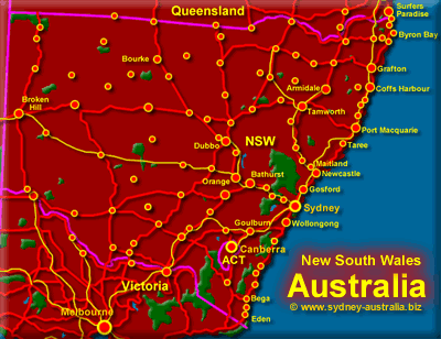 NSW Map - Click for More Detailed Maps