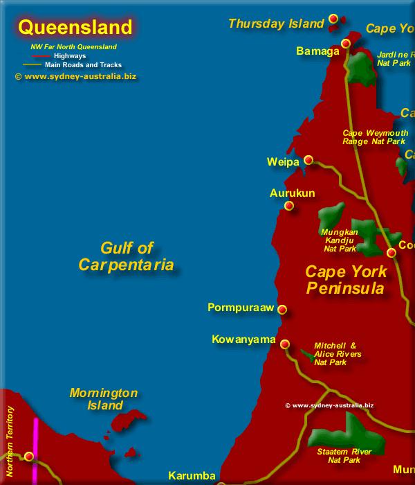 Queensland Map Far North West  QLD