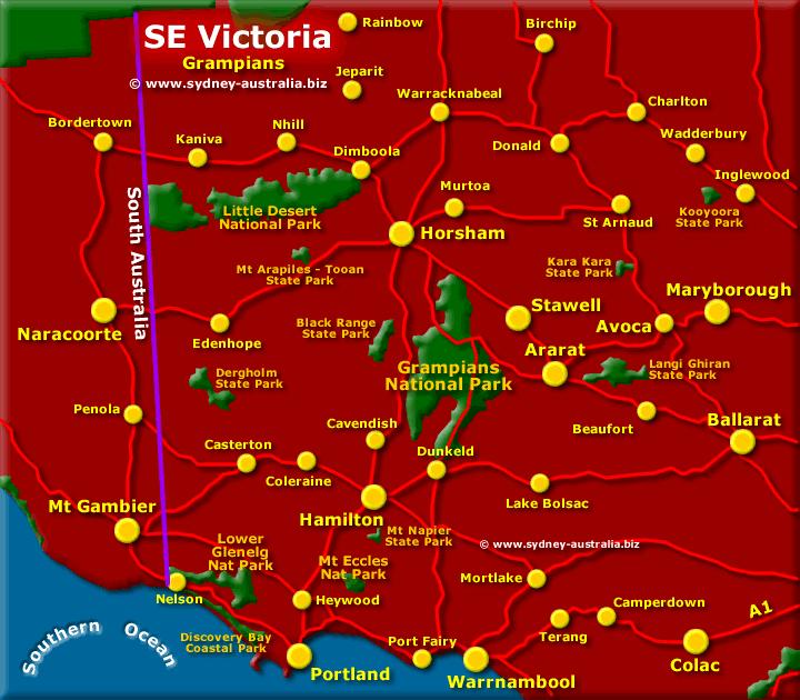 Grampians Map Victoria