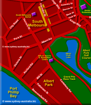 Melbourne City Map Places To Visit