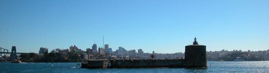 The low profile of Fort Denison, Sydney Australia