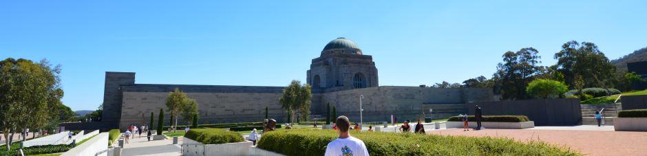 Peaceful gardens surrounding the Australian War Memorial Museum