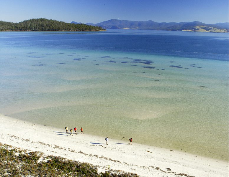 Exploring Picturesque Maria Island, TAS. Credit: Maria Island Walk