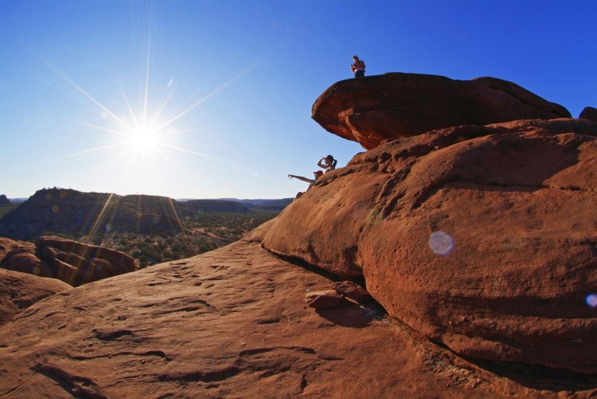 Desert views on the Red Centre Way of the Northern Territory. Photographer: Steve Strike