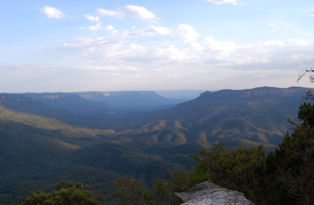 Blue Mountains Valley with its Bluish Tinge.