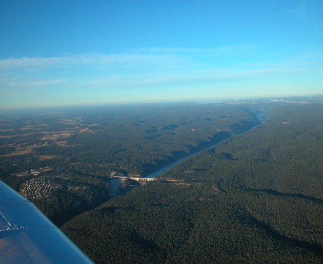 Warragamba Dam from the Air.