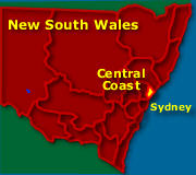 Central Coast Australia Map.Central Coast Nsw Places To Visit