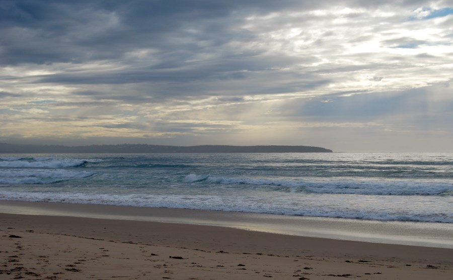 Even on a cloudy morning, Pambula Beach gives nice views, South Coast of NSW