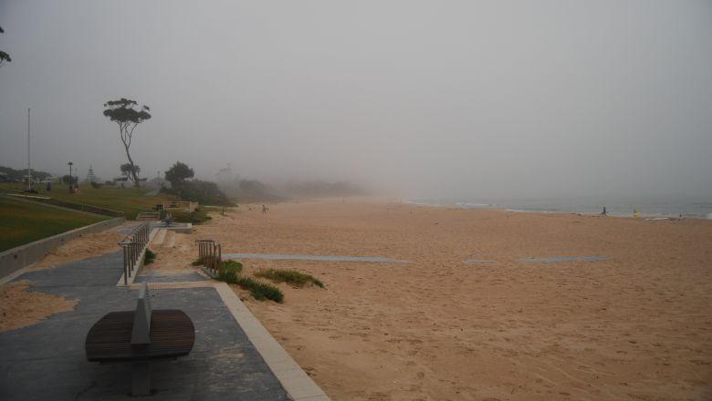 South Mollymook Beach on a Misty Summer Morning.