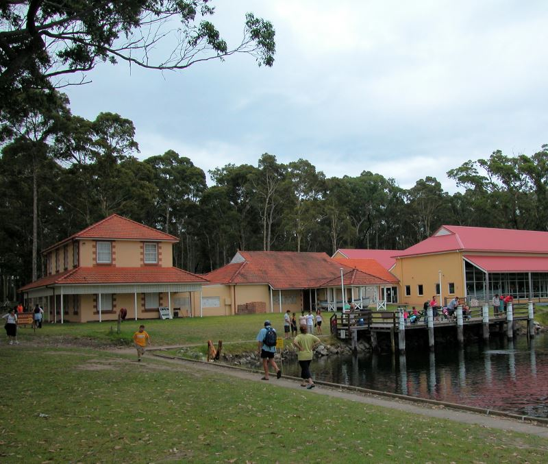 The waterfront at the Jervis Bay Maritime Museum