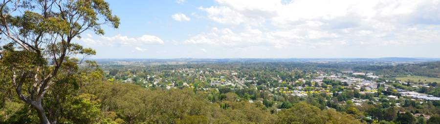Looking towards Bowral and beyond from the Mt. Gibraltar Reserve