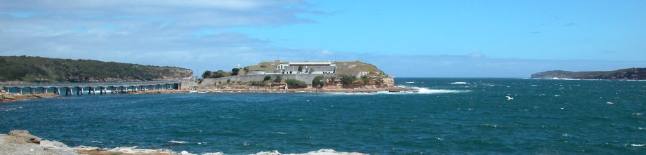Bare Island Fort, built in 1885 at Botany Bay
