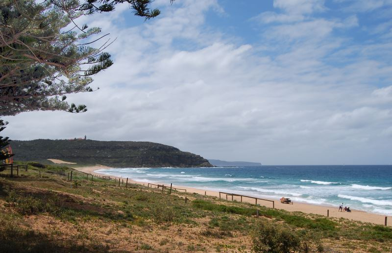 Barranjoey Lighthouse with Palm Beach in the Foreground