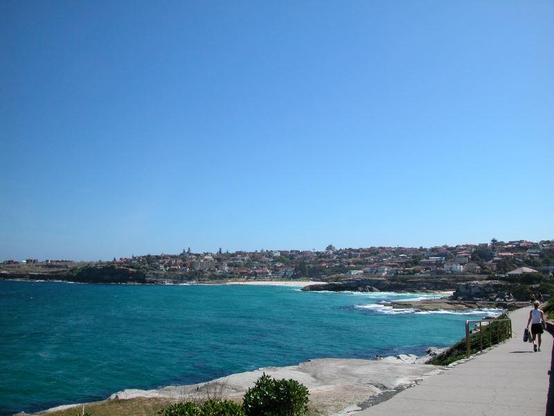 Tamarama and Bronte Beaches on the Eastern Beaches Walk, Bronte on the Right