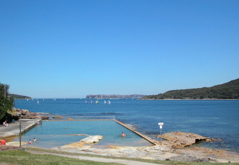 You can find Rock Pools for Swimming and Beaches at many places on Sydney Harbour