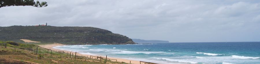 Palm Beach Sands, beyond the Lighthouse is the Hawkesbury