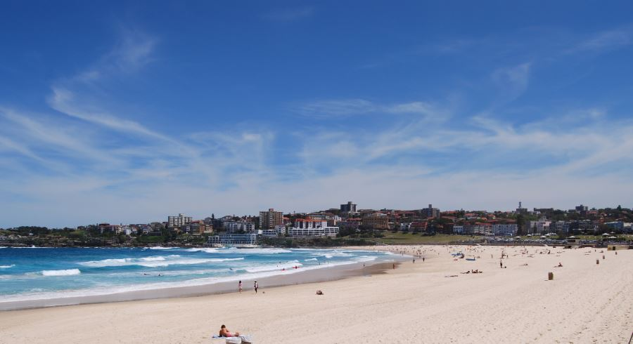 View of Bondi Beach towards the South Headland