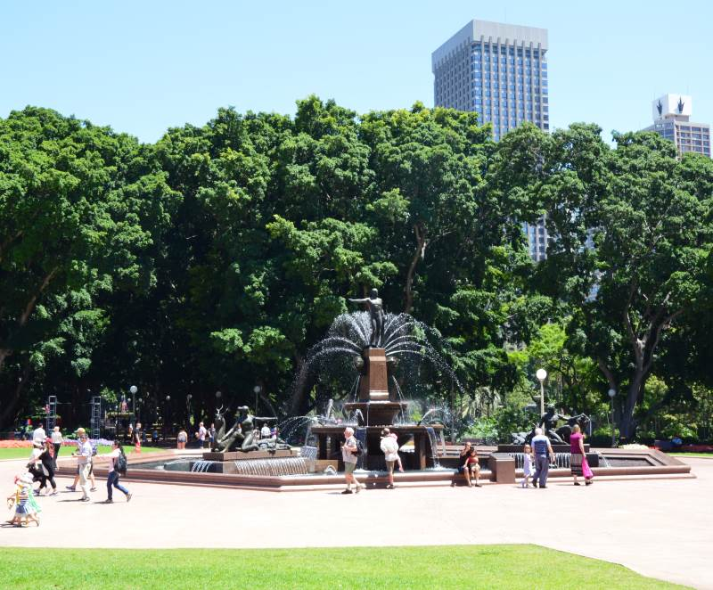 Archibald Fountain at the northern end of Sydney's Hyde Park.