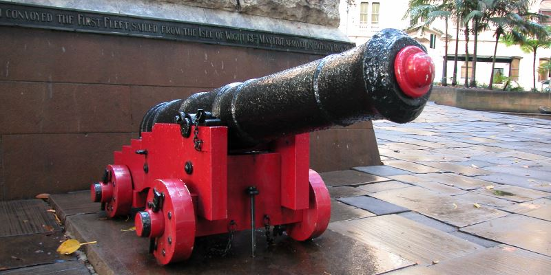 The Cannon from the First Fleet Ship, HMS Sirius