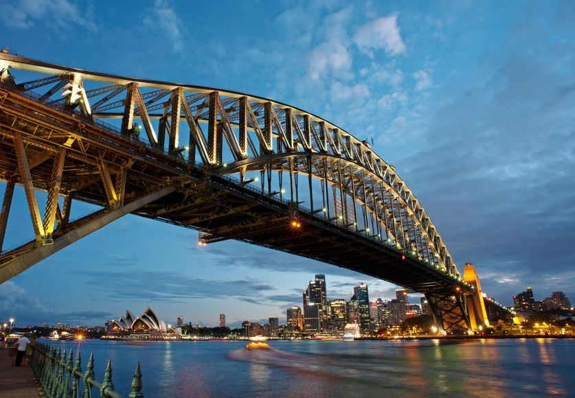 Special Place: Sydney has a beautiful harbour. On its shores is the Sydney Opera House and crossing it is the Sydney Harbour Bridge. Photo: Masaru Kitano snaK Productions