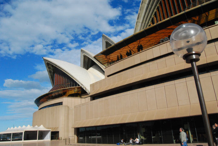 Familiar Shapes of the Ocean, Sea and Sky add to the visual impact of the Opera House